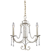 Elise 3 Light 15 inch Antique Silver Chandelier Ceiling Light