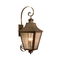 Cummings 3 Light 30 inch Oiled Rubbed Brass Outdoor Wall Sconce