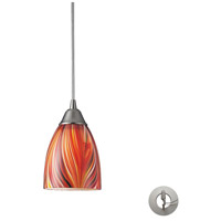 ELK Lighting Arco Baleno 1 Light Pendant in Satin Nickel 416-1M-LA