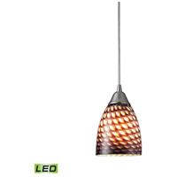 ELK 416-1C-LED Arco Baleno LED 5 inch Satin Nickel Pendant Ceiling Light in Cocoa, 1