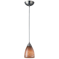 ELK 416-1C Arco Baleno 1 Light 5 inch Satin Nickel Mini Pendant Ceiling Light in Cocoa Standard Incandescent