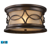 ELK Lighting Burlington Junction 2 Light Outdoor Flush Mount in Hazelnut Bronze 41999/2-LED