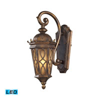 ELK Lighting Burlington Junction 1 Light Outdoor Wall Sconce in Hazelnut Bronze 42000/1-LED