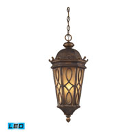 ELK Lighting Burlington Junction 3 Light Outdoor Pendant in Hazelnut Bronze 42003/3-LED