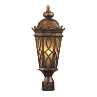 Burlington Junction 2 Light 21 inch Hazelnut Bronze Outdoor Post Light in Standard