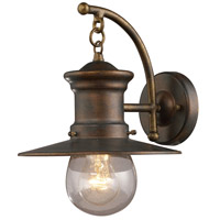 ELK 42006/1 Maritime 1 Light 12 inch Hazelnut Bronze Outdoor Sconce