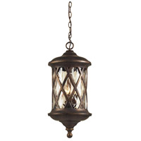 ELK 42033/3 Barrington Gate 3 Light 10 inch Hazelnut Bronze Outdoor Hanging Lantern