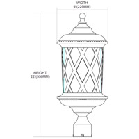 ELK 42034/2 Barrington Gate 2 Light 22 inch Hazelnut Bronze Outdoor Post Light  alternative photo thumbnail