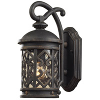 Tuscany Coast 1 Light 14 inch Weathered Charcoal Outdoor Sconce