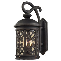 Tuscany Coast 2 Light 18 inch Weathered Charcoal Outdoor Sconce