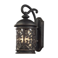 ELK Lighting Tuscany Coast 3 Light Outdoor Sconce in Weathered Charcoal 42062/3