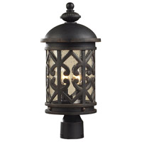 ELK Lighting Tuscany Coast 2 Light Outdoor Post Light in Weathered Charcoal 42064/2