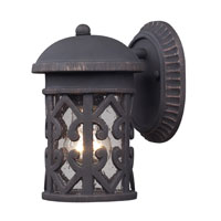 Tuscany Coast 1 Light 9 inch Weathered Charcoal Outdoor Sconce