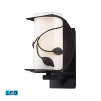 ELK Lighting Hedera 1 Light Outdoor Wall Sconce in Weathered Charcoal 42070/1-LED