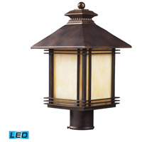 ELK Lighting Blackwell 1 Light Outdoor Post Light in Hazelnut Bronze 42104/1-LED