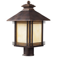 ELK 42104/1 Blackwell 1 Light 18 inch Hazelnut Bronze Outdoor Post Light in Standard