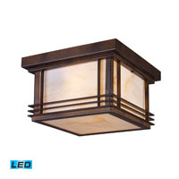 ELK Lighting Blackwell 2 Light LED Outdoor Flush Mount in Hazelnut Bronze 42106/2-LED