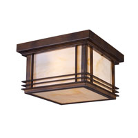 Blackwell 2 Light 11 inch Hazelnut Bronze Outdoor Flushmount in Standard