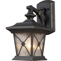 ELK Lighting Rutland Square 1 Light Outdoor Sconce in Hazelnut Bronze 42120/1