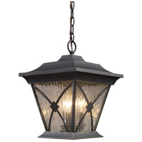 ELK Lighting Rutland Square 3 Light Outdoor Pendant in Hazelnut Bronze 42123/1