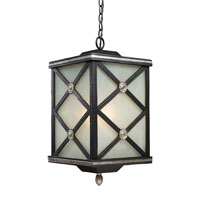 ELK Lighting Chaumont 1 Light Outdoor Pendant in Matte Black 42133/1