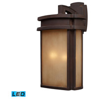 ELK Lighting Sedona 2 Light LED Outdoor Wall Sconce in Clay Bronze 42142/2-LED
