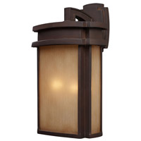 ELK Lighting Sedona 2 Light Outdoor Sconce in Clay Bronze 42142/2