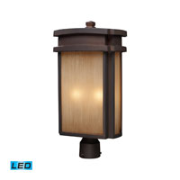 ELK Lighting Sedona 2 Light Outdoor Post Light in Clay Bronze 42144/2-LED