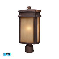 ELK Lighting Sedona 1 Light Outdoor Post Light in Clay Bronze 42145/1-LED
