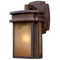 Sedona 1 Light 10 inch Hazelnut Bronze Outdoor Sconce in Standard