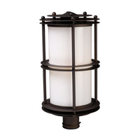 Burbank 1 Light 21 inch Clay Bronze Outdoor Post Light