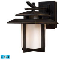ELK Lighting Kanso 1 Light Outdoor Wall Sconce in Hazelnut Bronze 42170/1-LED