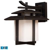 ELK Lighting Kanso 1 Light Outdoor Wall Sconce in Hazelnut Bronze 42171/1-LED