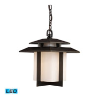 ELK Lighting Kanso 1 Light LED Outdoor Pendant in Hazlenut Bronze 42172/1-LED