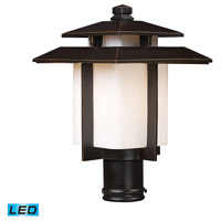 ELK Lighting Kanso 1 Light Outdoor Post Light in Hazelnut Bronze 42173/1-LED