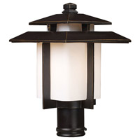 Kanso 1 Light 15 inch Hazelnut Bronze Outdoor Post Mount in Incandescent