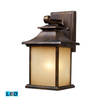 San Gabriel LED 12 inch Hazelnut Bronze Outdoor Wall Sconce