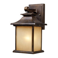 San Gabriel 1 Light 12 inch Hazelnut Bronze Outdoor Sconce in Standard
