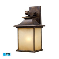 San Gabriel LED 16 inch Hazelnut Bronze Outdoor Wall Sconce