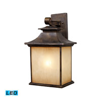 ELK Lighting San Gabriel 1 Light Outdoor Wall Sconce in Hazelnut Bronze 42182/1-LED