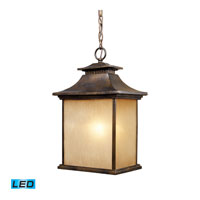 San Gabriel LED 11 inch Hazelnut Bronze Outdoor Pendant