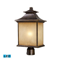 ELK Lighting San Gabriel 1 Light Outdoor Post Light in Hazelnut Bronze 42184/1-LED