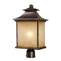 ELK Lighting San Gabriel 1 Light Outdoor Post Light in Hazelnut Bronze 42184/1