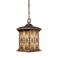 ELK Lighting Mission Hollow 1 Light Outdoor Pendant in Hazelnut Bronze 42203/1 photo thumbnail