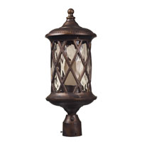 ELK Lighting Barrington Gate 1 Light Outdoor Post Light in Hazelnut Bronze 42234/1 photo thumbnail