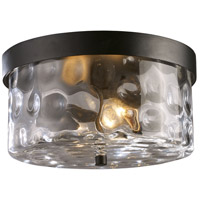 Grand Aisle 2 Light 11 inch Hazelnut Bronze Outdoor Flushmount
