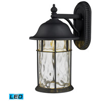 ELK Lighting Lapuente 1 Light Outdoor Sconce in Matte Black 42260/1