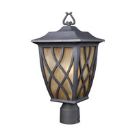 ELK Lighting Shelburne 1 Light Outdoor Post Light in Weathered Charcoal 42274/1 photo thumbnail