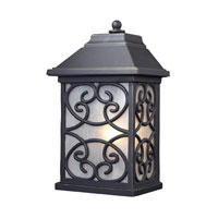ELK Lighting Spanish Mission 1 Light Outdoor Sconce in Weathered Charcoal 42281/1