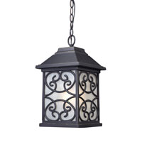 ELK Lighting Spanish Mission 1 Light Outdoor Pendant in Weathered Charcoal 42282/1